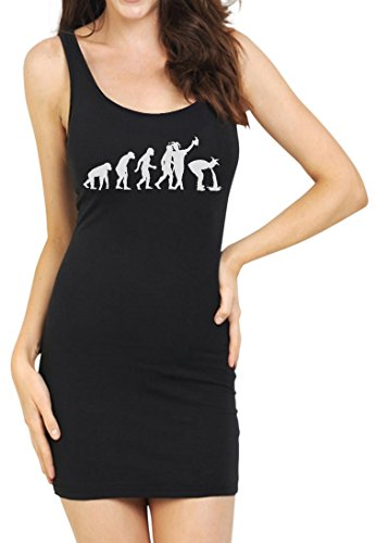 TeeStars - Drunk Evolution - Funny Beer Joker Drinking Party Tunic Dress Small Black