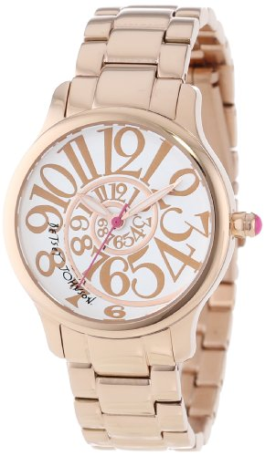 Betsey Johnson Women's BJ00233-03  Analog Rose Gold Tone Stainless Steel Case Watch