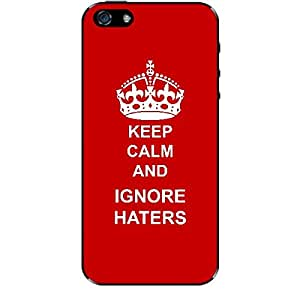 Skin4gadgets Keep Calm and IGNORE HATERS - Colour - Red Phone Skin for APPLE IPHONE 5