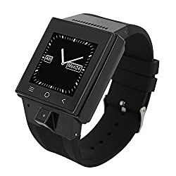 Chinatera Zgpax S55 1.54'' Hd TFT GSM 3g Mtk6572 Dual Core Android 4.4 Smart Watch Phone Wifi GPS Bluetooth Watch (Black)