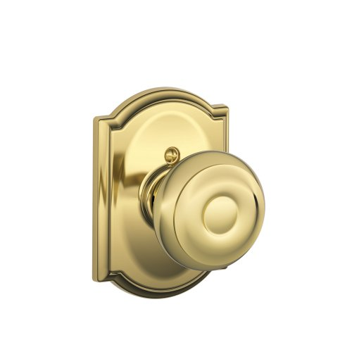 Schlage F170 GEO 605 CAM Camelot Collection Georgian Decorative Trim Knob, Bright Brass (House Front Door Handle And Lock compare prices)