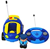 Cartoon R/C Police Car Radio Control Toy for Toddlers