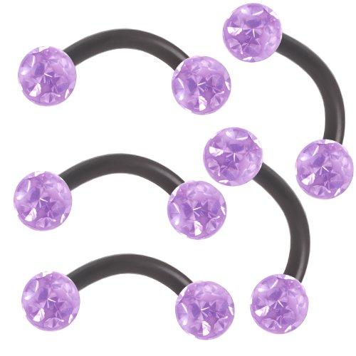 5 pcs piercing helix banana arcade oreille sourcil cartilage bijoux acrylique 16g 1 2mm longueur. Black Bedroom Furniture Sets. Home Design Ideas