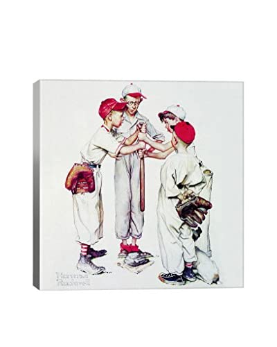 Norman Rockwell Four Sporting Boys: Baseball (Choosing Up) Giclée Print