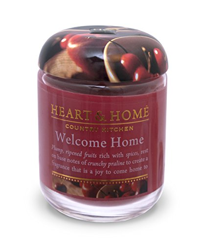 Heart & Home Small Glass Welcome Home Candle