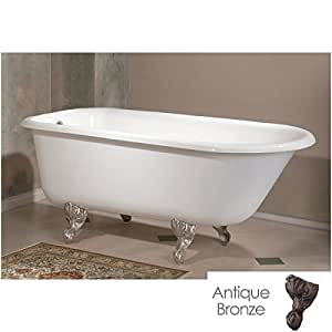 cheviot 54 inches classic cast iron white clawfoot tub