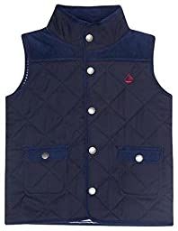 JoJo Maman Bebe Baby Girls\' Quilted Gilet - Navy - 18-24 Months