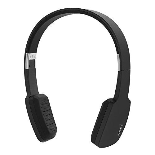 AUKEY-Auriculares-Casco-Inalmbrico-Bluetooth-Estreo-Micrfono-incorporado-Manos-Libre-para-Android-iPhone-iPad-Samsung-etc-otros-Telfonos-Mviles-Negro-EP-B18
