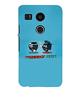 EPICCASE Friendly Fire Mobile Back Case Cover For LG Nexus 5x (Designer Case)