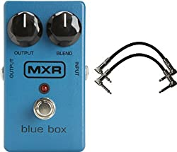 """Dunlop MXR M-103 Blue Box Octave Fuzz Pedal w/2 Free 6"""" Patch Cables from Dunlop"""