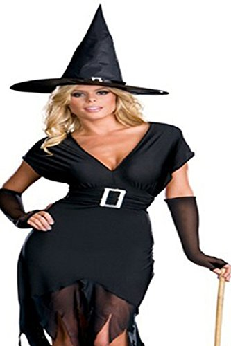 Sexy Wicked Witch Costume with Hat