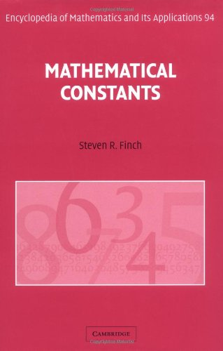 Mathematical Constants (Encyclopedia of Mathematics and its Applications) PDF
