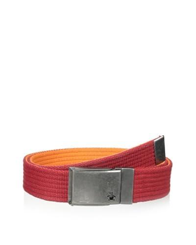 Original Penguin Men's Reversible Solid Webbed Belt