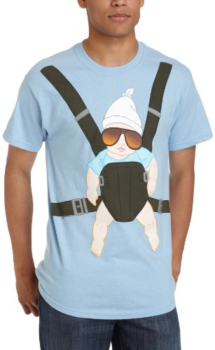 Old Glory Mens Men's The Hangover Baby Carrier T-Shirt / Light Blue