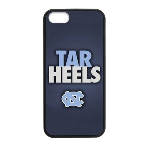 NCAA UNC North Carolina Tarheels Team Mascot Rameses White Rubber iPhone 5 5s Case Cover - Best Protective Case for Apple at Amazon.com