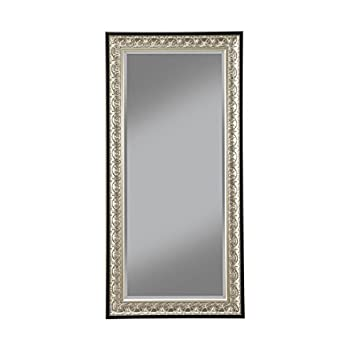 Sandberg Furniture 16011 Full Length Leaner Mirror Frame, Antique Silver/Black