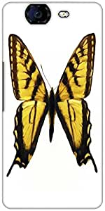 Snoogg Digital Painting Of A Butterfly Designer Protective Back Case Cover For Micromax Canvas Knight A350