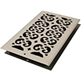 Decor Grates S610W-WH 6-Inch by 10-Inch Painted Wall Register, White