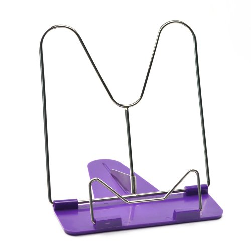 Bluecell Adjustable Metallic Reading Book Stand Clip Holder (Random Color)