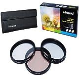 Polaroid Optics 52mm 3 Piece Special Effect Camera/Camcorder Lens Filter Kit (Soft Focus, Revolving 4 Point Star, Warming)