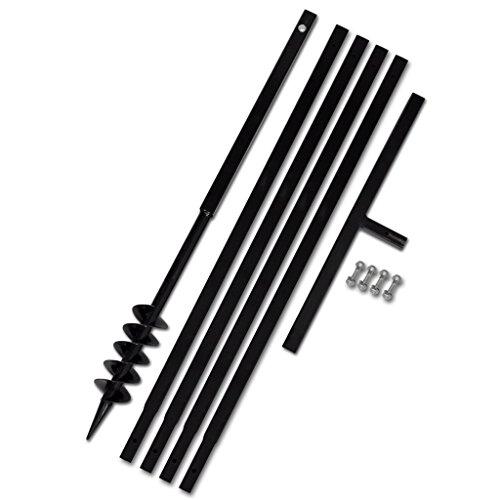vidaXL-Erdbohrer-mit-Griff-80-mm-Verlngerungsrohr-5-m
