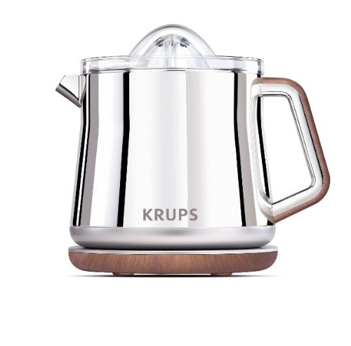 KRUPS ZX800 Silver Art Collection Citrus Press with Dual Cone Rotation and Stainless Steel Housing, Silver