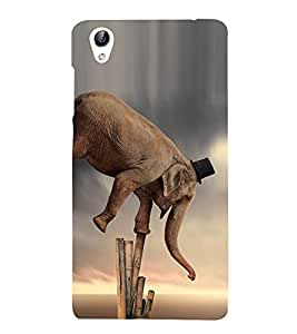 Vizagbeats Circus Elephant Back Case Cover for Oppo A37
