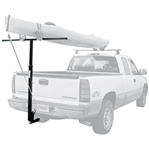 Click to read our review of Kayak Storage Racks: Thule Goalpost Adjustable Watersport Carrier