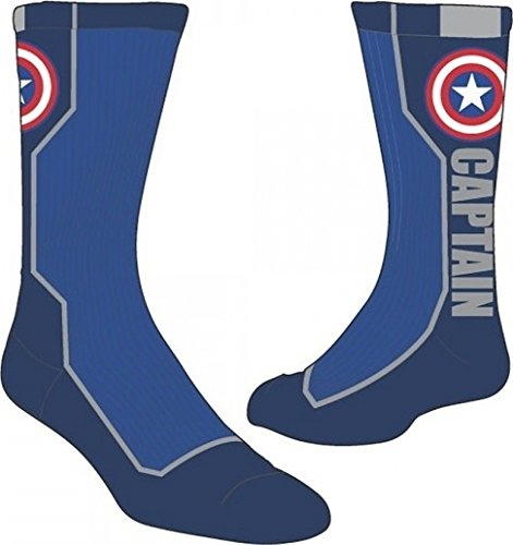 Active Crew Sock - Marvel Captain America Text New Toys Licensed cr2un6mac