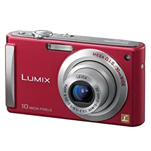 Panasonic Lumix DMC-FS20R 10MP Digital Camera with 4x Wide Angle MEGA Optical Image Stabilized Zoom (Red)