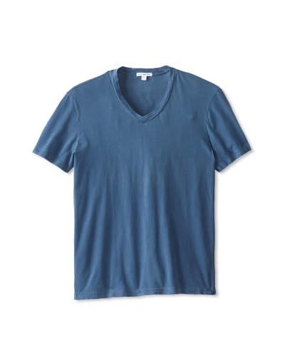 James Perse Men's Sanded Jersey Short Sleeve V-Neck