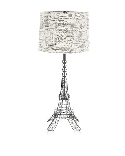 Applied Art Concepts Somme Table Lamp, Black/Natural