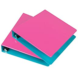 Samsill 1.5-Inch 2-Tone View Binder, Berry/Turquoise, Pack of 2 (U58947)