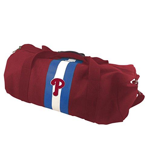 MLB Philadelphia Phillies Rugby Duffel Bag, Red