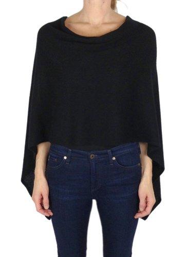 Alashan Cashmere Company Claudia Nichole Draped Dress Topper, Ebony, One Size