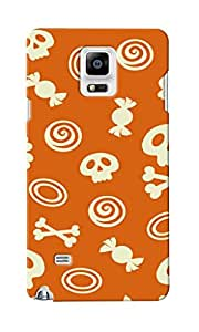 CimaCase Skull And Candies Designer 3D Printed Case Cover For Samsung Galaxy Note 4