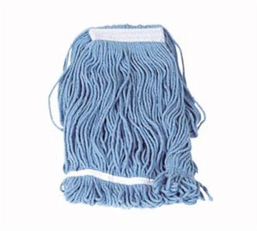 Winco Yarn Mop Head, 32-Ounce, 4 Ply Loop End, Blue