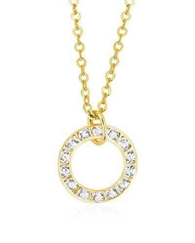 Shiny Cristal Collar  metal bañado en oro 24 ct