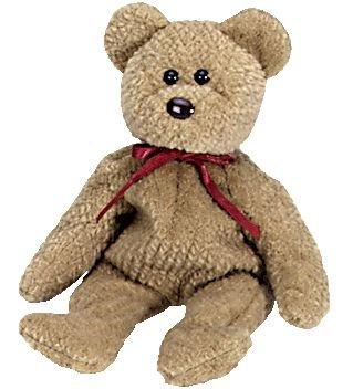 1 X TY Beanie Babies Curly Bear Plush Toy Stuffed Animal - 1