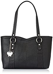 Butterflies Women's Handbag (Black) (BNS 0241 BK)