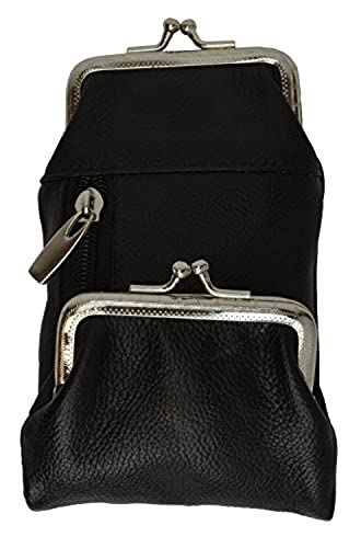 05. Womens Leather Cigarette and Lighter Case with Twist Clasp