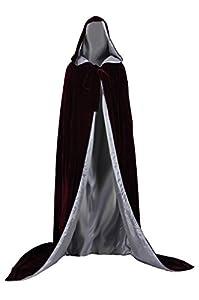AngelWardrobe Halloween Hooded Cloak MEDIEVAL Various Colors Wedding Cape SCA Brown_Silver XXXL