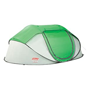 Coleman Company Popup 4 Person Tent, Green Grey, 9.25x6.5-Feet by Coleman