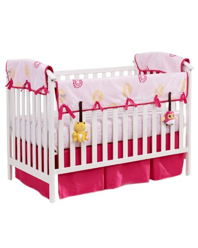 "Babee Talk Eco-Teether Crib Rail Cover and Toys, 51"" x 12"", Pink"