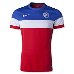 Amazon.com : USA away AUTHENTIC soccer jersey, with laser cut side