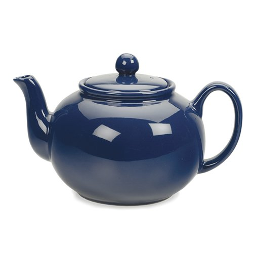 RSVP Blue 6 cup Stoneware Chai Teapot (Ceramic Teapot With Infuser compare prices)