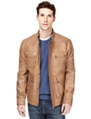 Autograph Leather 4 Pockets Jacket