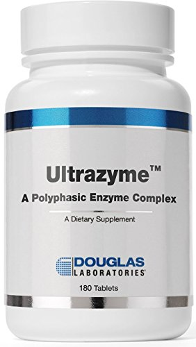 Douglas Laboratories® - Ultrazyme (A Polyphasic Enzyme Complex) - Comprehensive Digestive Enzyme Formula* - 180 Tablets