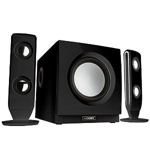 Coby CS-MP77 75-Watt High Performance MP3 Speaker System