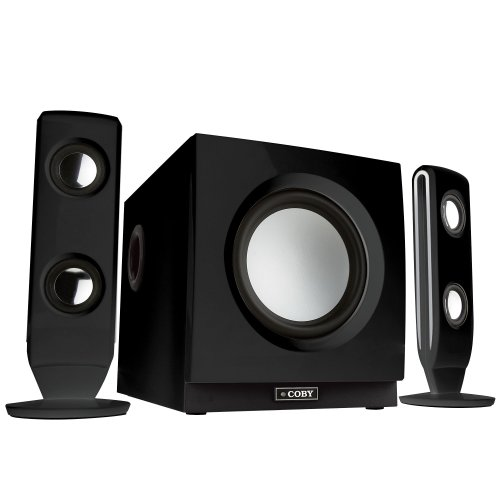 Coby CS-MP77 75-Watt High Performance MP3 Speaker System